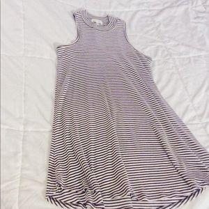 Striped Skater Girl Dress
